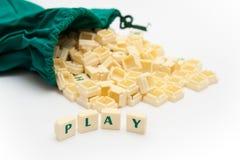 κείμενο παιχνιδιού Στοκ εικόνα με δικαίωμα ελεύθερης χρήσης