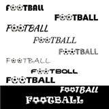Κείμενο ποδοσφαίρου για το λογότυπο η ομάδα και το φλυτζάνι Στοκ Εικόνα