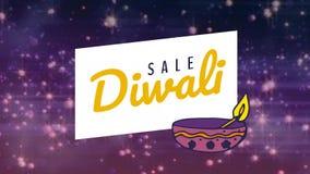 Κείμενο πώλησης Diwali στο ακτινοβολώντας κλίμα απόθεμα βίντεο