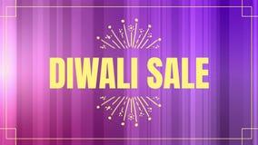 Κείμενο πώλησης Diwali στο χρωματισμένο κλίμα απεικόνιση αποθεμάτων