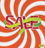 κείμενο πώλησης με την κορδέλλα Στοκ φωτογραφίες με δικαίωμα ελεύθερης χρήσης