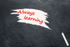Κείμενο στο μαύρο σχολικό πίνακα στοκ εικόνες με δικαίωμα ελεύθερης χρήσης