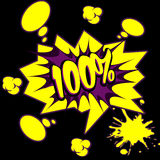 Κείμενο 100% στο ύφος κόμικς απεικόνιση αποθεμάτων