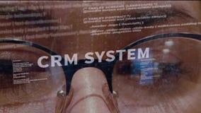 Κείμενο συστημάτων CRM στο υπόβαθρο του υπεύθυνου για την ανάπτυξη απόθεμα βίντεο