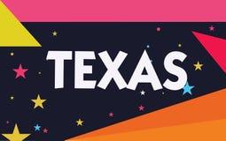 Κείμενο Τέξας γραψίματος λέξης Επιχειρησιακή έννοια για βασισμένος στο taysha λέξης Caddo που σημαίνουν τους φίλους και το του πο διανυσματική απεικόνιση
