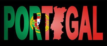 κείμενο της Πορτογαλίας χαρτών Στοκ εικόνες με δικαίωμα ελεύθερης χρήσης