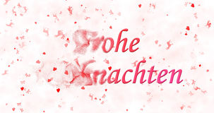 Κείμενο Χαρούμενα Χριστούγεννας στα γερμανικά Στοκ Εικόνες