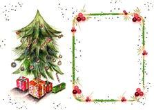 κείμενο Χριστουγέννων κ&alph Στοκ Εικόνα