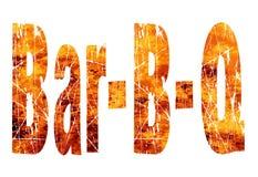Κείμενο BQ φραγμών στις φλόγες απεικόνιση αποθεμάτων