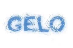 κείμενο gelo serie Στοκ φωτογραφία με δικαίωμα ελεύθερης χρήσης