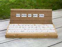 Κείμενο: Ist DAS Ziel Weg Der Στοκ Εικόνες