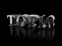 Κείμενο TOP10 Στοκ φωτογραφίες με δικαίωμα ελεύθερης χρήσης