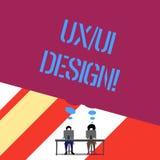 Κείμενο Ux γραψίματος λέξης ή σχέδιο Ui Επιχειρησιακή έννοια για δύο διαφορετικά στοιχεία μιας ενιαίας καταναλωτικής εμπειρίας απεικόνιση αποθεμάτων