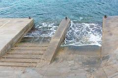 Κεκλιμένες ράμπες έναρξης βαρκών Στοκ εικόνα με δικαίωμα ελεύθερης χρήσης