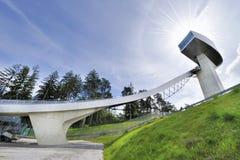 Κεκλιμένη ράμπα άλματος σκι Στοκ φωτογραφίες με δικαίωμα ελεύθερης χρήσης