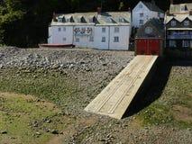 Κεκλιμένη ράμπα βαρκών Clovelly στοκ εικόνες με δικαίωμα ελεύθερης χρήσης