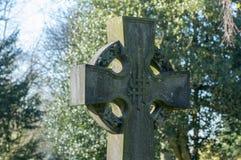 Κελτικός σταυρός με Nimbus ή το δαχτυλίδι στοκ εικόνες