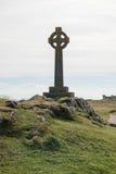Κελτικός σταυρός στο νησί Llanddwyn σε Anglesey, βόρεια Ουαλία Στοκ εικόνες με δικαίωμα ελεύθερης χρήσης