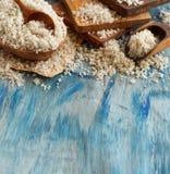 Κελτικό γκρίζο άλας θάλασσας από τη Γαλλία Στοκ Εικόνες