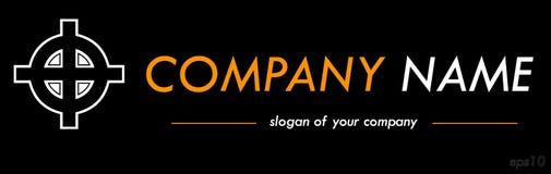 Κελτικό διαγώνιο διανυσματικό πρότυπο λογότυπων, έτοιμο logotype για μια επιχείρηση Στοκ εικόνες με δικαίωμα ελεύθερης χρήσης
