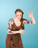 κελτικό κορίτσι redhead Στοκ εικόνα με δικαίωμα ελεύθερης χρήσης
