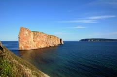 Κεμπέκ, βράχος Perce σε Gaspesie Στοκ εικόνα με δικαίωμα ελεύθερης χρήσης
