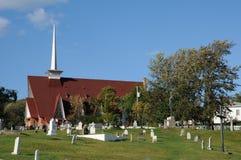 Κεμπέκ, η εκκλησία Sainte Croix σε Tadoussac Στοκ φωτογραφίες με δικαίωμα ελεύθερης χρήσης
