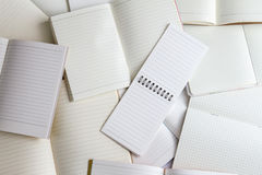 κενά έγγραφο σημειωματάριων και υπόβαθρο σημειωματάριων Στοκ Εικόνες