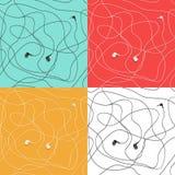 Κενά ακουστικά άσπρο λ, χρώμα στοκ εικόνα