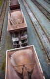 Κενά βαγόνια εμπορευμάτων φορτίου Στοκ Φωτογραφία