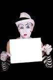 κενά γάντια που κρατούν mime τ&omic Στοκ εικόνα με δικαίωμα ελεύθερης χρήσης