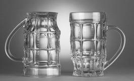 κενά γυαλιά μπύρας Στοκ Εικόνες
