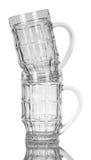 κενά γυαλιά μπύρας Στοκ φωτογραφία με δικαίωμα ελεύθερης χρήσης