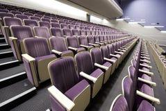 κενά εσωτερικά καθίσματα σειρών Στοκ Φωτογραφία