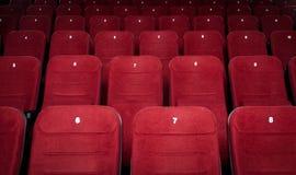 κενά καθίσματα αιθουσών κινηματογράφων Στοκ Εικόνες