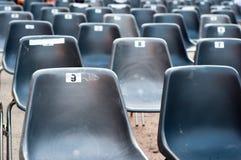 κενά καθίσματα σειρών αριθμών Στοκ Εικόνα
