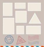 Κενά κενά γραμματόσημα προτύπων καθορισμένα διάνυσμα απεικόνιση αποθεμάτων