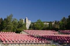 κενά κόκκινα καθίσματα Στοκ φωτογραφία με δικαίωμα ελεύθερης χρήσης