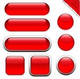 Κενά κόκκινα κουμπιά Ιστού ελεύθερη απεικόνιση δικαιώματος