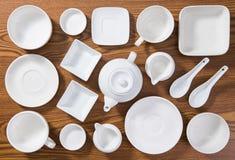 Κενά πιάτα και κύπελλα Στοκ φωτογραφίες με δικαίωμα ελεύθερης χρήσης