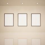 Κενά πλαίσια στο γκαλερί τέχνης Στοκ εικόνα με δικαίωμα ελεύθερης χρήσης