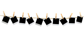 κενά πλαίσια clothesp που κρεμού Στοκ φωτογραφίες με δικαίωμα ελεύθερης χρήσης