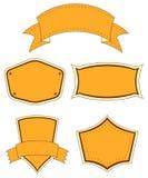 Κενά πορτοκαλιά πρότυπα Στοκ φωτογραφία με δικαίωμα ελεύθερης χρήσης