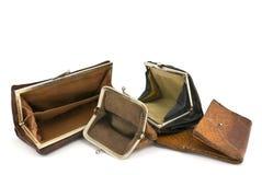 κενά πορτοφόλια Στοκ φωτογραφία με δικαίωμα ελεύθερης χρήσης