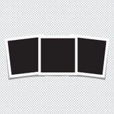 Κενά πλαίσια φωτογραφιών στην άσπρη ανασκόπηση Στοκ Φωτογραφία