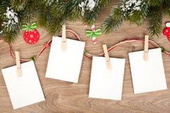Κενά πλαίσια φωτογραφιών Χριστουγέννων Στοκ Εικόνες