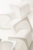 Κενά συντριμμένα πλαστικά δοχεία γιαουρτιού Στοκ φωτογραφία με δικαίωμα ελεύθερης χρήσης