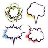Κενά σύννεφα διαλόγου βιβλίων Comics Στοκ Εικόνες