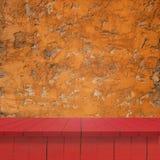 Κενά τοπ ξύλινα ράφια Στοκ φωτογραφία με δικαίωμα ελεύθερης χρήσης