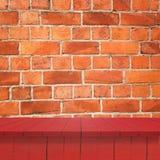 Κενά τοπ ξύλινα ράφια Στοκ εικόνες με δικαίωμα ελεύθερης χρήσης